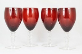 Home Essentials & Beyond Imperial Ruby Set of 4 Red Glass Goblets 16 Oz - $34.64