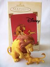 HALLMARK 2003 THE LION KING MUFASA AND SIMBA KEEPSAKE ORNAMENTS - Set Of 2 - $9.86