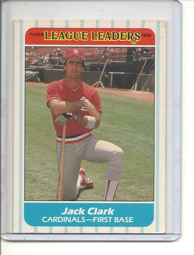 (B-2) 1986 Fleer League Leaders #6 of 44: Jack Clark
