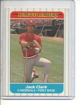 (B-2) 1986 Fleer League Leaders #6 of 44: Jack Clark - $1.50