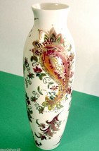 "Lenox Tall Vase Burnished Amber Paisley Design 10.25""H Gold Accents New ... - $49.90"