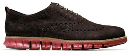 COLE HAAN ZEROGRAND WINGTIP OXFORD DARK ROAST SUEDE SIZE 8 BRAND NEW (C2... - $117.95