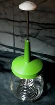 VTG Avacado FEDERAL HOUSEWARES Glass EGG BEATER Gravy Wire Whisk Spring ... - €9,90 EUR