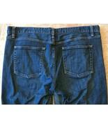 J Crew Stretch Jeans Womens Size 33 S Medium Dark Finish Distressed Styl... - $18.99