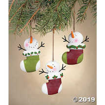 Snowman Stocking Ornaments - $21.99