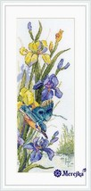 Cross Stitch Hand Embroidery Kit Narcissus Kingfisher's Flight - $33.11