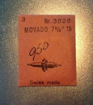 "NOS Movado cal 15 balance staff watch movement part, 7 3/4"" 7.75"" 3828 - $13.99"
