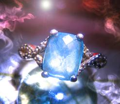 "Haunted ring ""SIHR"" EGYPTIAN ROYALTY MALE DJINN Genie VESSEL 925 TOPAZ C... - $217.77"