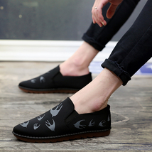 New Shoes Fashion MWSC Bre Print Casual Summer Slip Male Swallow On Loafer 2018 HHCqR