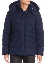 Vilebrequin Men's Blue Fox Fur-trimmed Down Parka, Size XXL BNWT $895 - $345.75