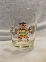 Vintage Flintstones Cocktail Sour Cream Glass - Fred Flintstone Lifting ... - $7.95