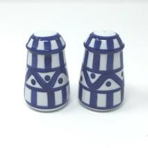 Dansk Arabesque Dinnerware Salt and Pepper Shakers Set Blue And White Shaker - $48.25