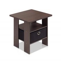 Small Espresso End Table Night Stand Living Room Bedroom Bathroom Storag... - $32.99