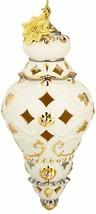 Lenox 2016 Annual Spire Ornament Gold & Ivory Egg Shell Pierced Christma... - $80.00