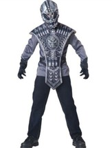 Alien Costume Kids Scary Halloween Boys In Character Size 6+ Gray Black USA - $21.49