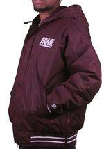 Hall of Fame 2ND Second Sucks Sideline Burgundy Hooded Parka Jacket NWT image 3