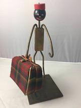 Vintage Art Deco Bell Hop Cigarette Holder Black Americana Folk Art Bras... - $145.00