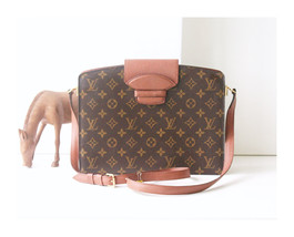 Louis Vuitton Bag Monogram Courcelles  vintage rare Authentic Shoulder H... - $680.00