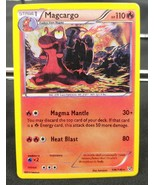 VERY RARE Pokemon Card Magcargo 106/146 Stage 1 Fire Type Very Good 2014 - $29.99