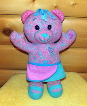 "Doodle Bear Pink & Blue Butterfly Swirl Plush 17"" in 2 Color Wrap Skirt - $7.29"