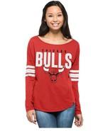 NWT 47 Brand NBA Chicago Bulls Women's Size Medium Red Long Sleeve Tee S... - $24.70