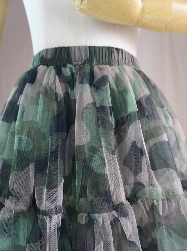 Army green tulle skirt 5