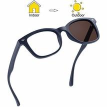 Blue Light Blocking Glasses, Photochromic Brown Sunglasses, Anti UV, Anti Glare  image 1
