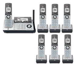 AT&T CLP99486 7 Cordless Phones w/Bluetooth Connect to Cell & Answering Machine - $210.80