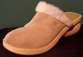 Somethin' Else From Skechers Sn 36013 Leather/Suede Faux Fur Clog/Mules Size: 10 - $24.24