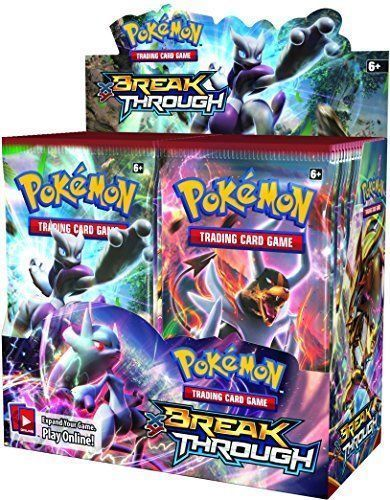 XY Breakthrough 9 Booster Pack Lot 1/4 Booster Box POKEMON TCG Free Shipping