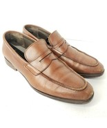 To Boot NY Adam Derrick 9 Penny Loafers Men Brown Leather Dress Shoes Ma... - $37.97