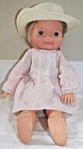"My Friend Mandy blonde 16"" vintage doll pink dress hat 1970 Fisher Price - $12.86"