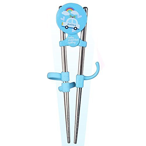 Stainless Steel Baby Training Tableware Correcting Using Chopsticks(Blue)