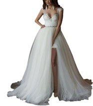 Detachable Skirt Wedding Dress 2017 Lace Wedding Dresses Bridal Dress fo... - $154.00