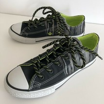 Converse Junior Boys Girls CTAS OX Black Bold Lime Shoes Size US 2 NEW - $17.95