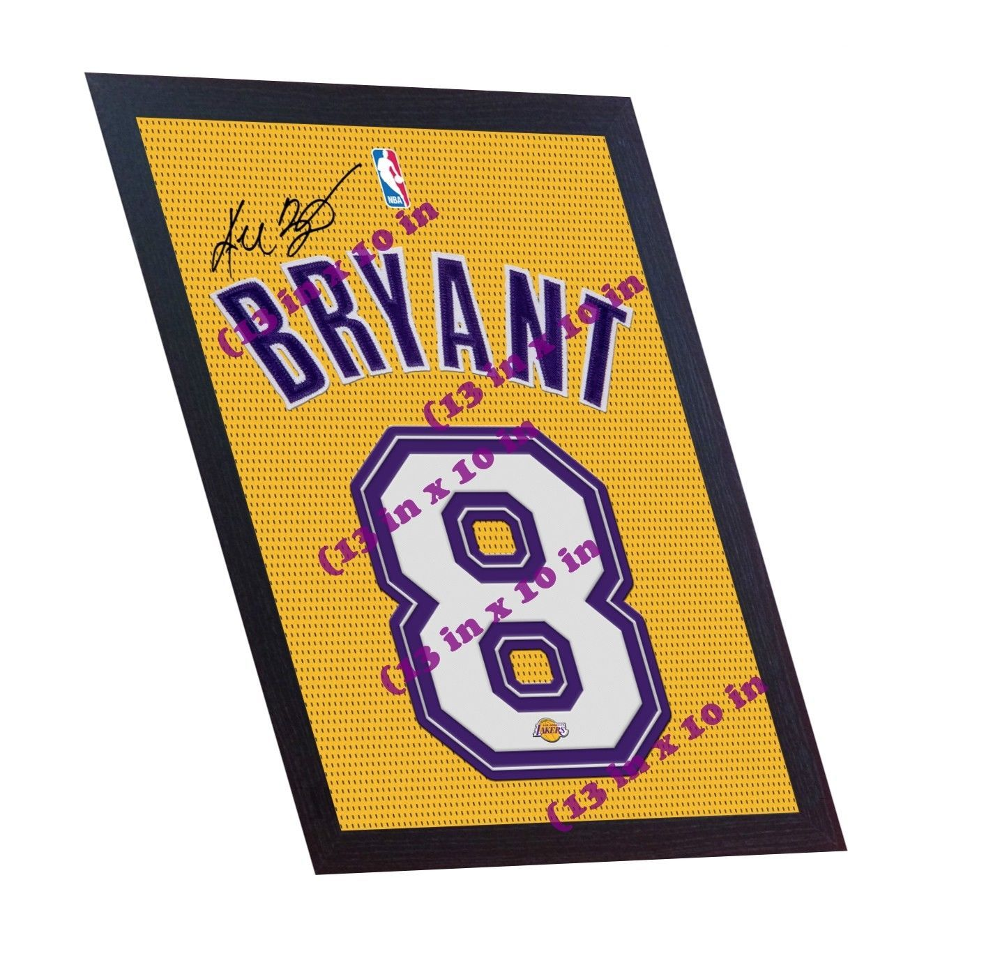 Kobe Bryant LA Lakers signed autograph printed on 100% canvas FRAMED