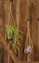 2/Set, Glass Pots w/ Jute Rope Spring Planting floral - $34.64