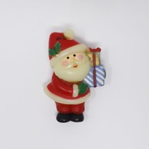Vintage Plastic Holiday Christmas Santa Claus Pin - $9.49