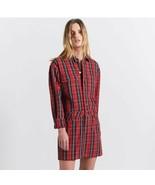 Women's Current/Elliot Red Tartan Denim Jumpsuit Dress sz 0 - $105.46