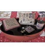 American Homestead Sewing Set cross stitch chart The Scarlett House - $14.40