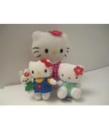 CUTE Trio of Small Plush Hello Kitty Sanrio Stuffed Cat Animal Toys NM P... - $9.00