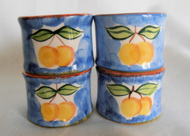 Napkin Rings Set of 4  by Studio Nova Hand Painted Portugal NEW! - $12.95