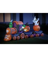 15 Ft Halloween Air Blown Inflatable BOOVILLE EXPRESS TRAIN Yard Inflata... - $173.22