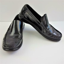 Cole Haan NikeAir Slip On Black Leather Loafers Mens Sz 9 M - $48.37