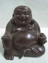Antique Chinese in exotic wood Buddha - $27.69