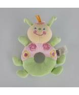 Koala Baby Butterfly Bug Ring Rattle Stuffed Plush Baby Boy Flower Green... - $19.21