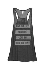Thread Tank Life You Love Women's Sleeveless Flowy Racerback Tank Top Ch... - $24.99+