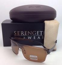 Nuovo Serengeti Fotocromatici Polarizzate Sole Duccio 7901 Marrone W/ Ph... - $239.48