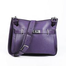 Hermes Jypsiere 34 Ultra Violet Clemence Crossbody Bag - $4,010.00