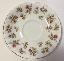 Royal Albert Winsome Saucer Bone China White Pink Roses Blue Flowers - $4.99